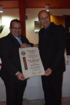 Edvaldo Piva presidente da Associação Comercial e Industrial de Vinhedo ao lado do Vice-presidente da Acivi Rubens Nunes.